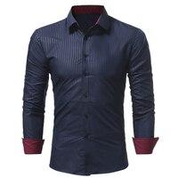 Men Shirt 2017 Spring New Brand Business Men S Slim Fit Dress Shirt Male Long Sleeves