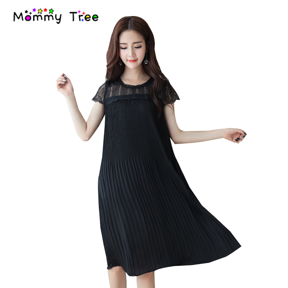 Compare prices on elegant lace maternity dress online shopping elegant pleated lace maternity dress summer maternity clothes for pregnant women 2017 chiffon stitching pregnancy clothing ombrellifo Image collections