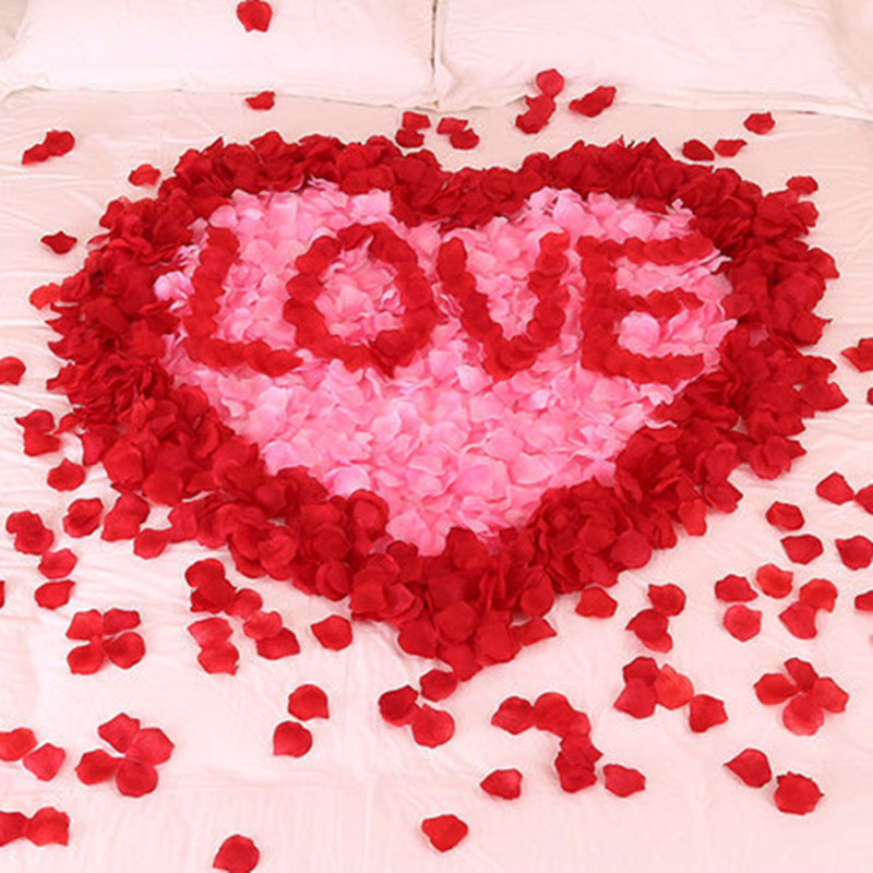 100pcs/Lots Artificial Silk Flower Rose Petal Fake Petals Petale De Rose Mariage Decoration For Wedding Party Accessories VL