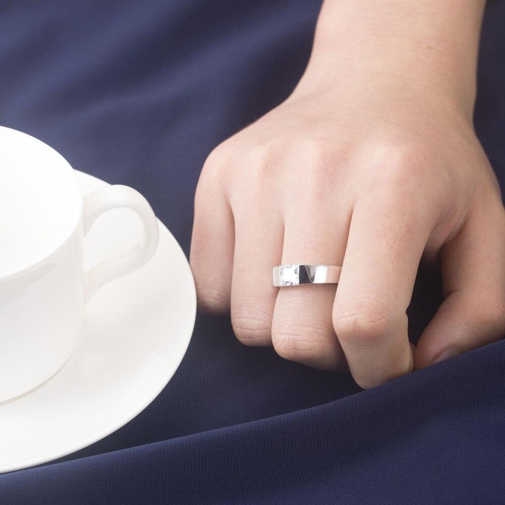 Classic Men Jewelry 1CT Diamond Wedding Engagement Ring 925 Sterling ...