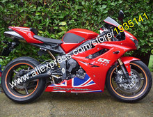 Hot Sales,British Flag Body Kit For Triumph Daytona 675 2009-2012 Daytona675 09-12 Motorcycle Fairing Kit (Injection molding)