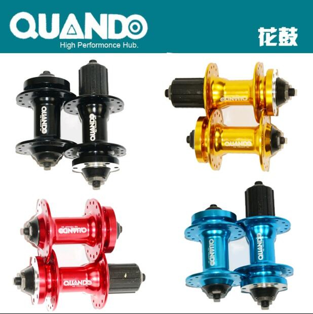 Quando bike bushing spacer <font><b>hub</b></font> <font><b>bicycle</b></font> MTB mountain bike front rear 32 36H <font><b>holes</b></font> for Cassette freewheel and 6 bolt disc brake image