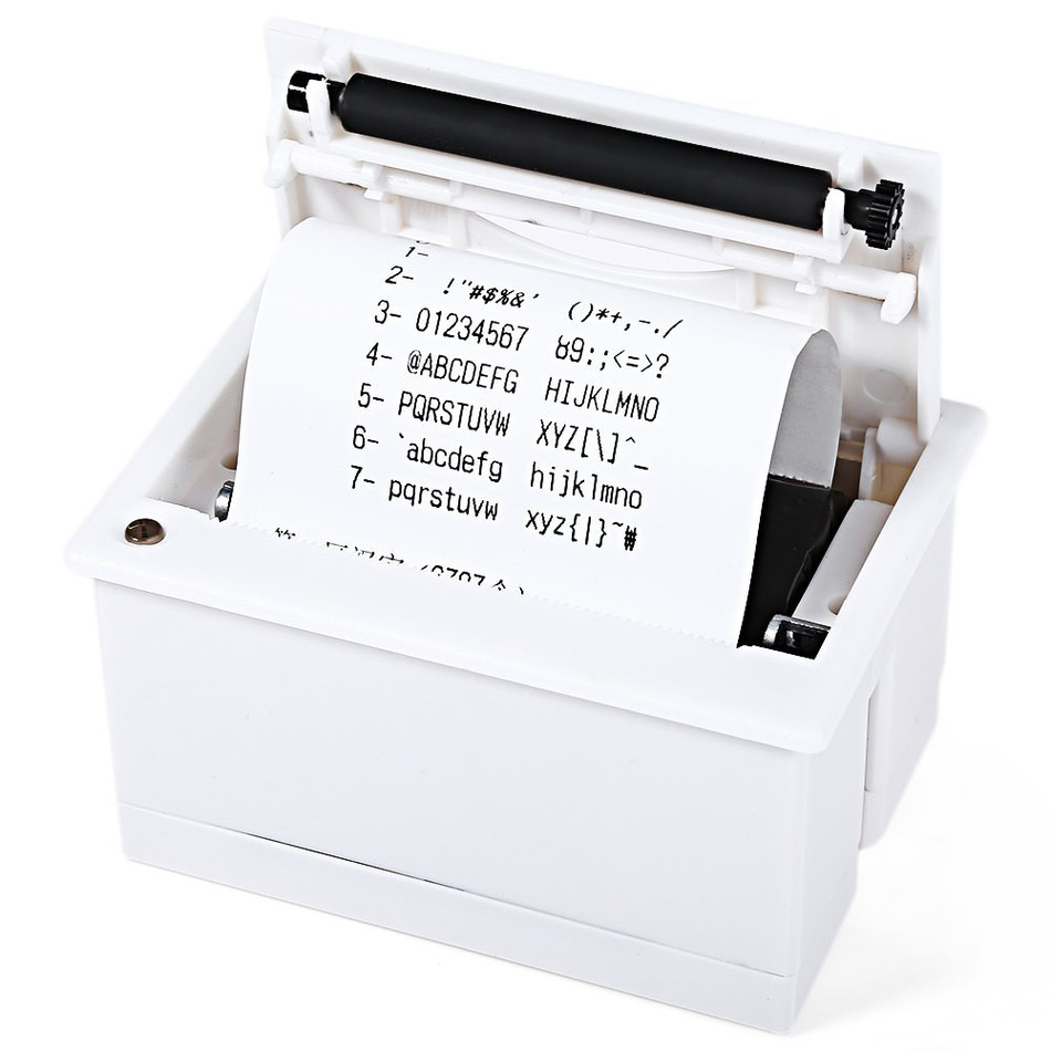 Receipt Thermal Printer 58mm Super Mini Embedded Low Noise Optional USB Port Printer ThermalReceipt Thermal Printer 58mm Super Mini Embedded Low Noise Optional USB Port Printer Thermal