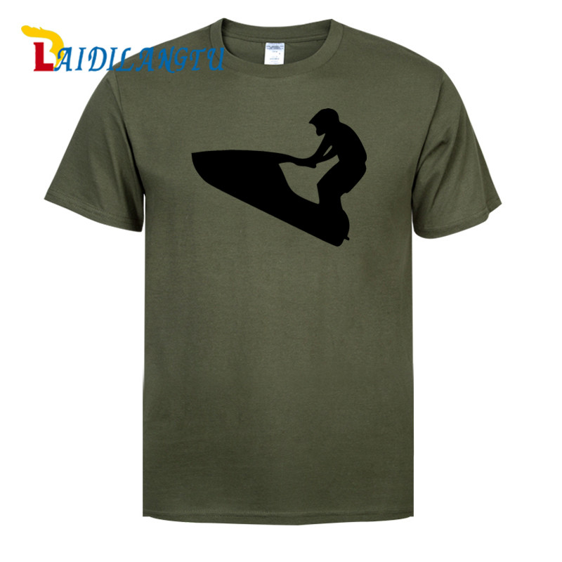 mens t shirts top quality fashion Jet Ski PWC BRAAAP! Stand up New fashion t shirt cotton men T-shirt
