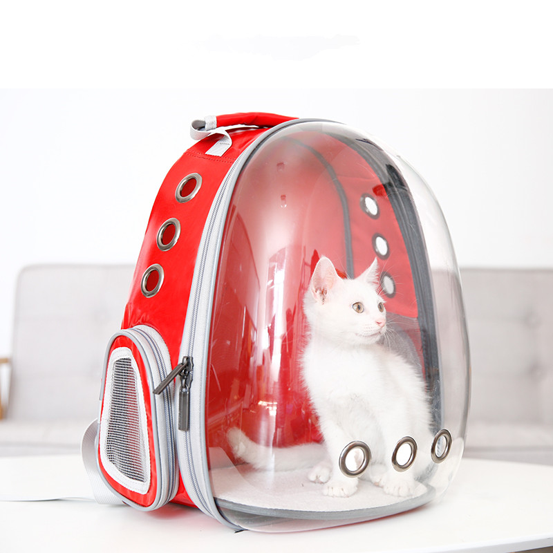 Portable Small Pet Carrier Bag Breathable Holes Cat Dog Kitten Puppy Outdoor Travel Hiking Backpack Carrying
