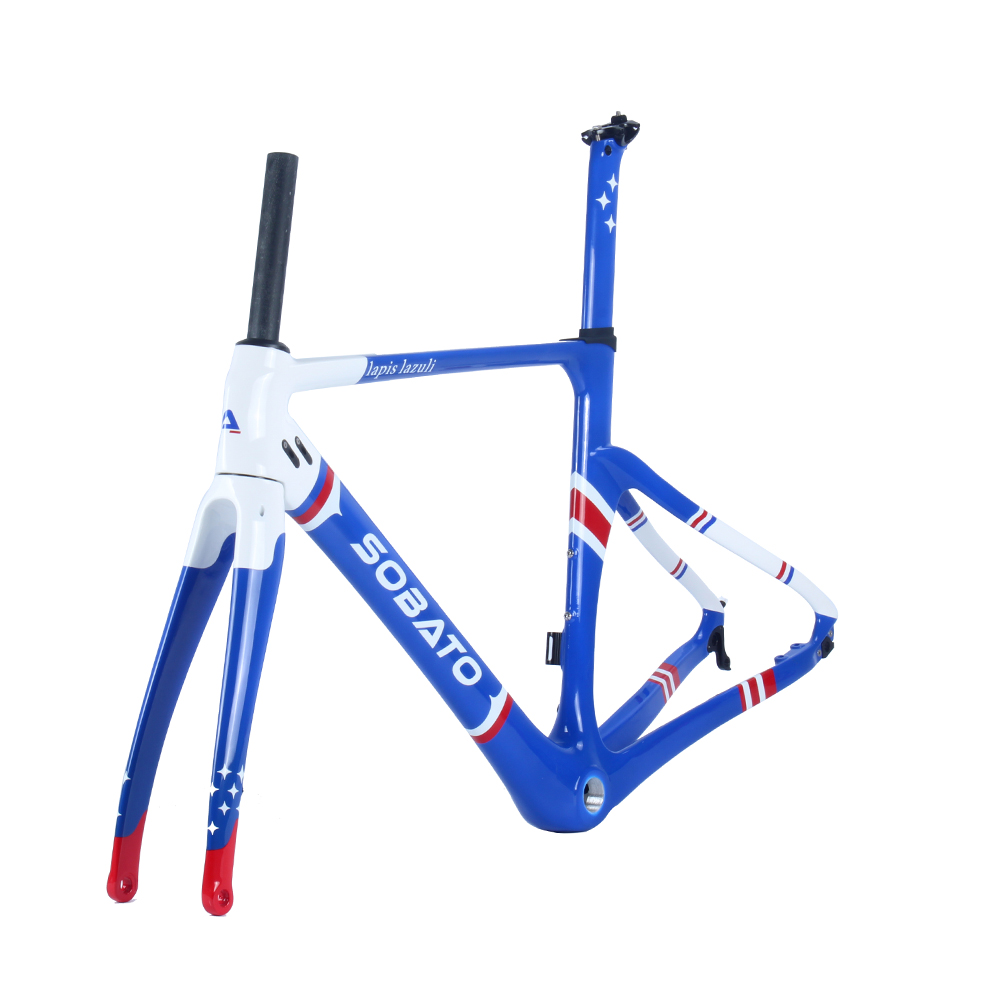 700C Carbon Road Bike Frame Aero Bicycle frame Disc Brake Cross City Frame BB30/BSA And DI2 Compatible
