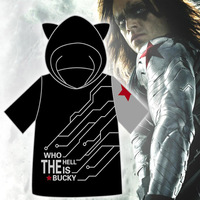 Captain America Marvel S The Avengers Cosplay Costume The Winter Soldier Cool T Shirt Hooded Top