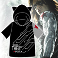 Captain America Marvel's The Avengers Cosplay Costume The Winter Soldier Cool T-shirt Hooded Top New