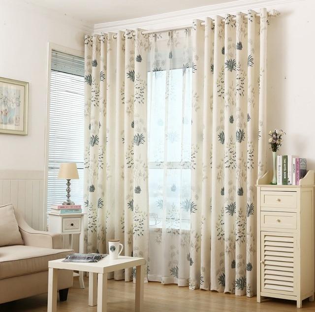 Aescin flowers, dandelion, clover, white birch, curtains living room ...