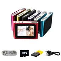 BGreen Lcd-scherm Clip Mp3 PlayerWith Metal Case Ondersteuning FM Radio Tot 32 GB Micro SD Tf-kaart Inclusief Hoofdtelefoon Mini USB kabel