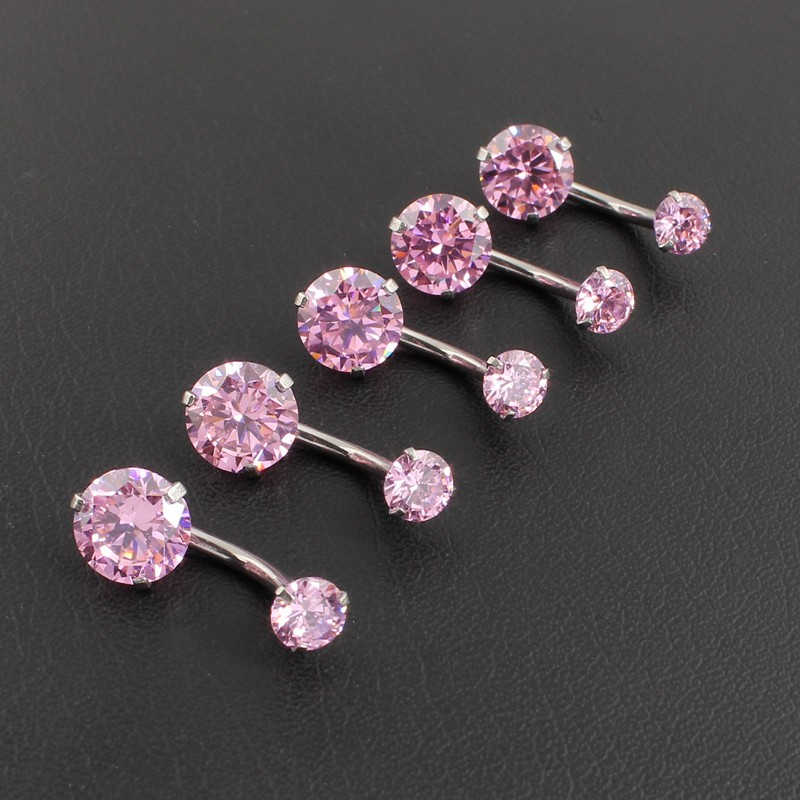 HTB1wODQOFXXXXXhapXXq6xXFXXXB Pretty Zircon Jewel Prong Style Belly Button Ring - 2 Colors