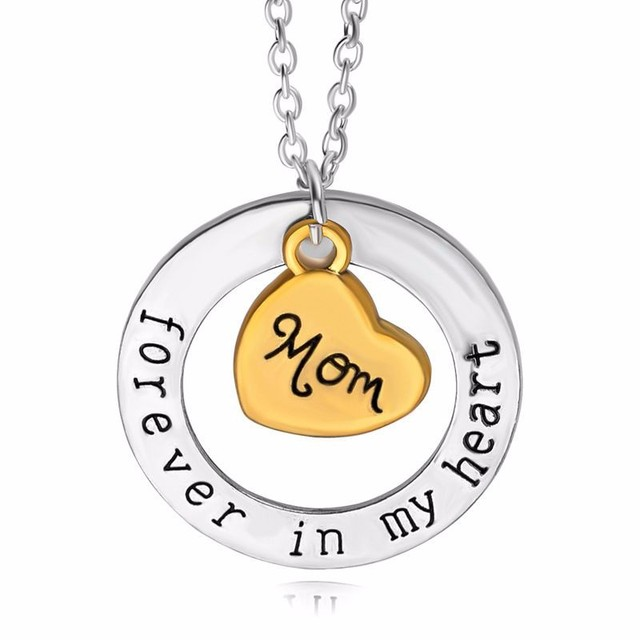 New fathers day gift mom dad forever in my heart necklace son new fathers day gift mom dad forever in my heart necklace son daughter love heart pendant aloadofball Choice Image