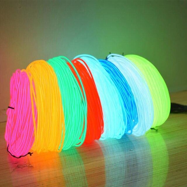 1 m/3 m/5 M 3V Flexible néon lueur EL câble bande câble bande LED néons chaussures vêtements voiture LED étanche bande nouveau 1