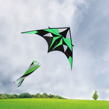 2MCreative Green Handmade Kites Triangle kite with Tail Resin Rod Leisure Material Outdoor Toys Gift for Children and Adult 2017