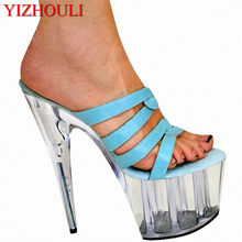 0bb92a8b 20 cm de los fabricantes que venden señora ultra-alta costillas con verde  punta abierta sandalias de diseño profesional estilo ú.