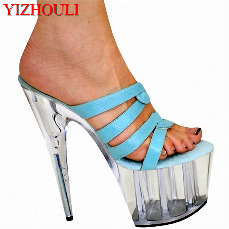Calendars, Planners & Cards Fashion Style 20cm Manufacturers Selling Lady Ultra-high Ribs With Green Open-toed Sandals Professional Design Style Unique Dance Shoes