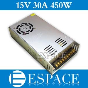 Image 1 - 最高品質 15v 30A 450 ワット用電源ドライバのスイッチングcctvカメラledストリップac 100 240 入力dc 15v送料無料
