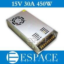 Beste Kwaliteit 15V 30A 450W Switching Power Supply Driver Voor Cctv Camera Led Strip Ac 100 240V Input Naar Dc 15V Gratis Verzending