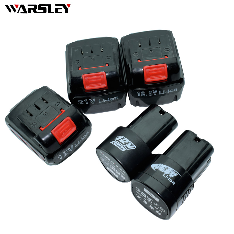 12 V 16,8 V 21 V batería de herramientas eléctricas de taladro recargable para destornillador inalámbrico batería recargable taladro batería de litio