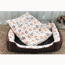 Winter Warm Cotton Padded Dog Bed House Mat Waterproof Washable Cozy Soft Sofa Kennel For Small Medium Large Pet Dogs Cats