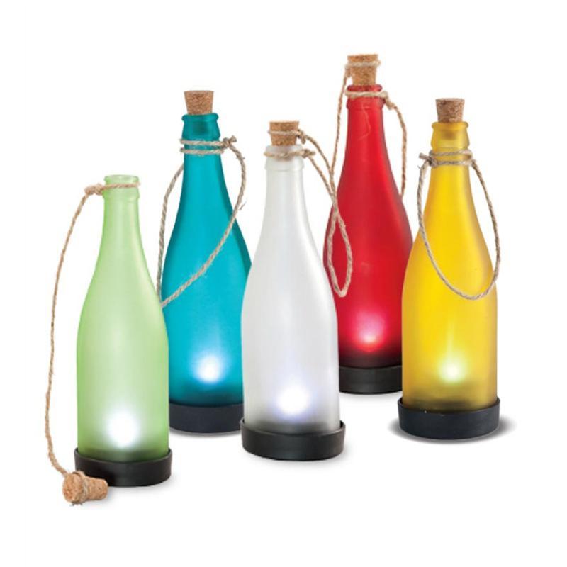 Wine Bottle Shape Solar Light Outdoor Garden Wine Bottle Lamp Party Tree Decoration Light Creative Energy Saving Solar Lamp