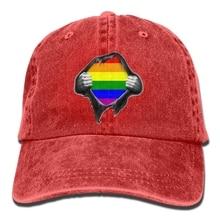 ea069d63 Print Custom Baseball Cap Hip Hop Peaked Cap Adult Gay Pride Cowboy Caps  with Adjustable Fashion Design for Men's Women