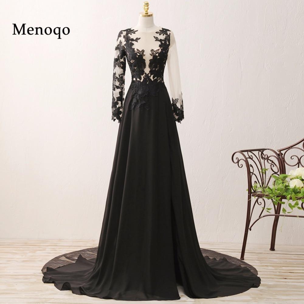 Original Photo A line Long Sleeve Chiffon Lace 2018 Special Occasion Formal  Dresses Elegant Women Prom d5deae895c26