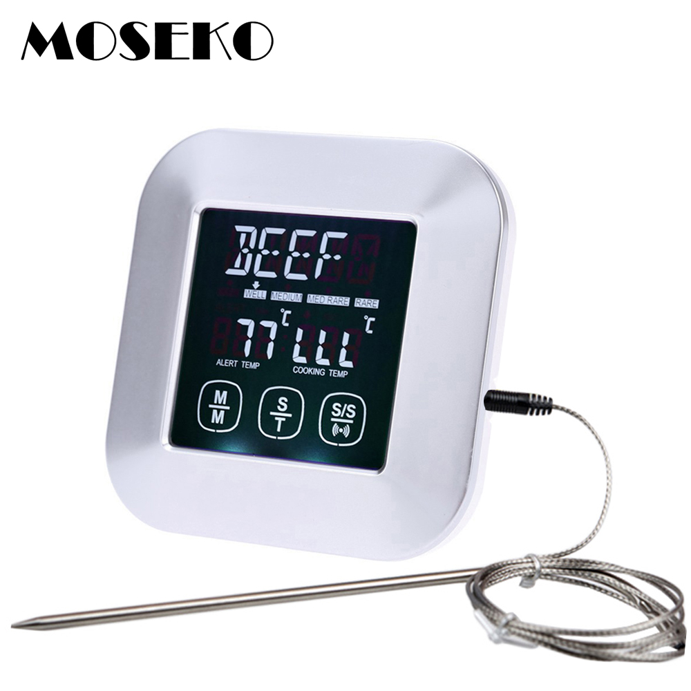 Multifunction Touch Screen Digital Meat Thermometer Oven Meat 