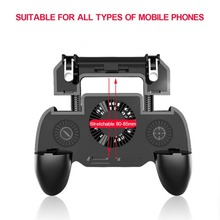 Phone Gamepad Controller For Mobile Trigger L1R1 Shooter Joystick Game Pad Phone Holder Cooler Fan with 2000mAh Power Bank