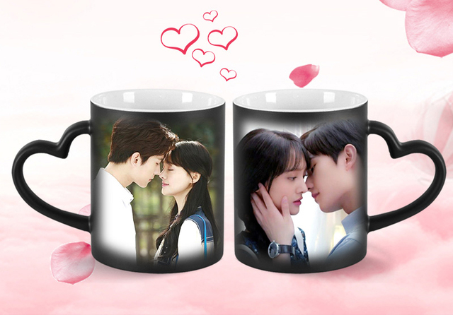 Drop shipping DIY Photo Magic Color Changing Mug,custom your photo on Tea cup,unique Ceramic Coffee Cup best gift for friends 1