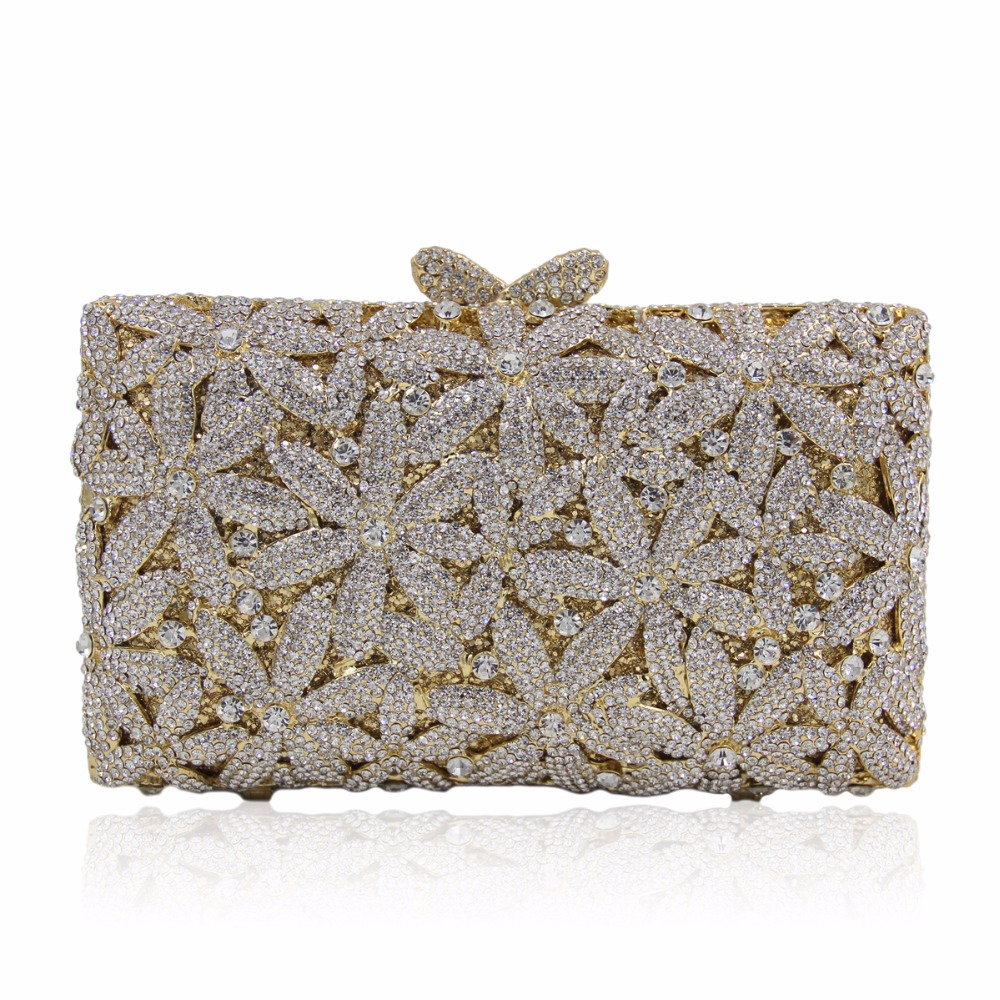 DAIWEI Luxury evening bag Crystal women party purse bags Ladies wedding bridal formal clutch bags banquet bag Day Clutches BL081 купить в Москве 2019