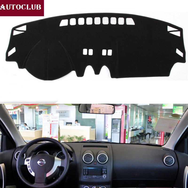For Nissan Qashqai Dualis J10 2006-2013 Car Styling Covers Dashmat Dash Mat Sun Shade Dashboard Cover Capter 2007 2008 2009 2010