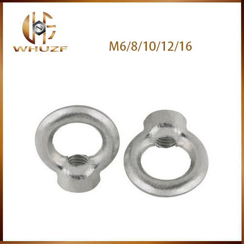 M6 M8 M10 M12 M16 Zinc Plated Carbon Steel Loop Hole DIN582 Female Thread Round Ring Lifting Eye Nut 50 pieces metric m4 zinc plated steel countersunk washers 4 x 2 x13 8mm