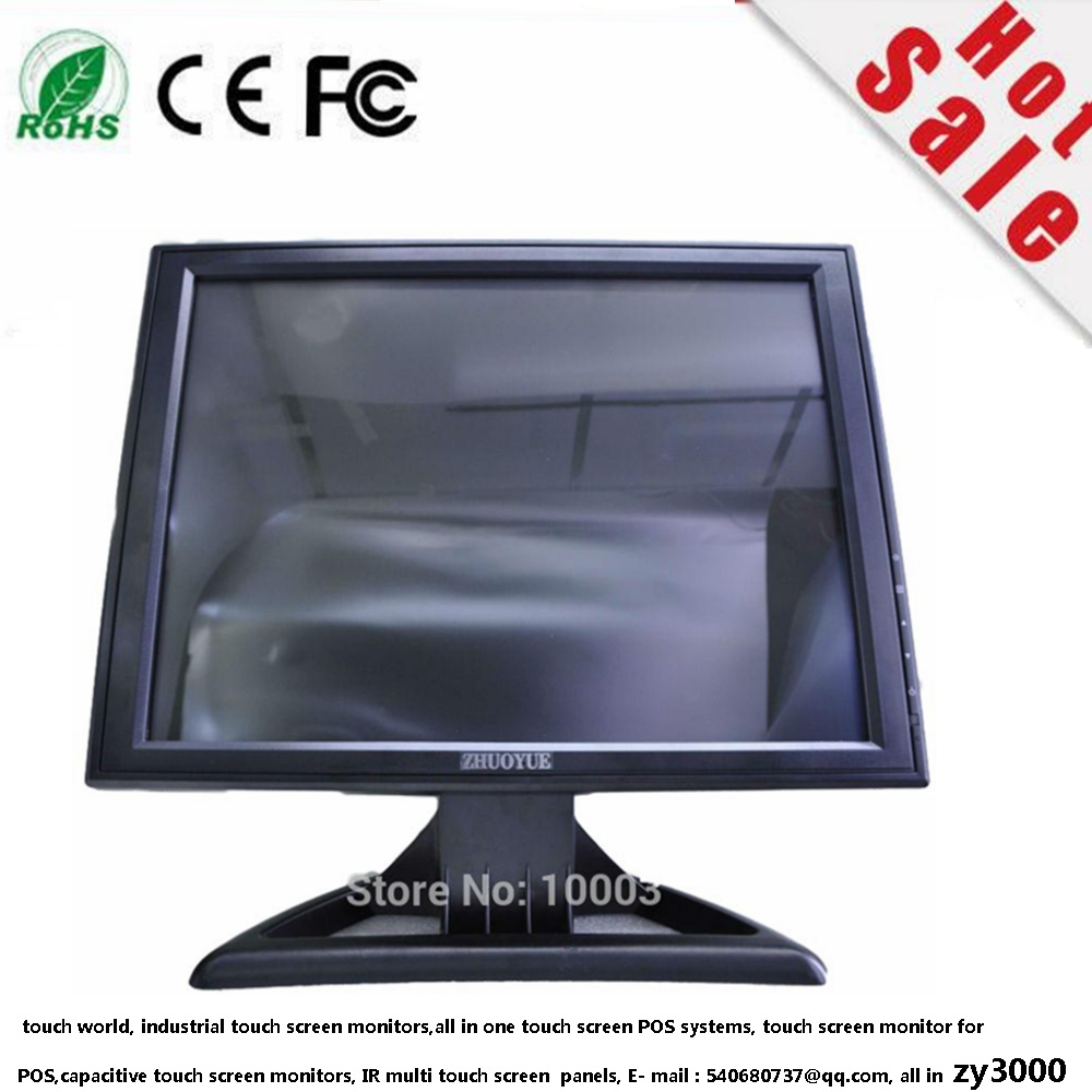 warranty 1 year great price19 inch 4:3 1280*1024 usb resistive Touch screen industrial lcd monitor for POS PC ATM computer 19 inch 1280 1024 4 3 standard screen industrial medical pos machine security monitor lcd screen display with metal base