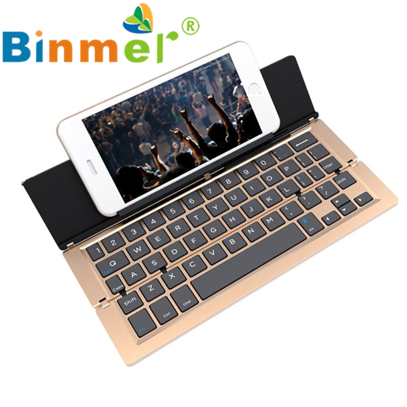 F18 Foldable Keyboard Aluminum Alloy Wireless Bluetooth For Tablet for Samsung Phone 2017 New Hot Wholesale Price_KXL0510