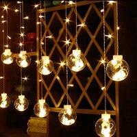 LED Curtain String Lights 2.5M 12 Balls 108Led Bulbs Fairy Light Outdoor Garland Lamp Garden Christmas Wedding Holiday Bedroom