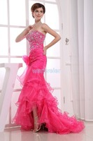 free shipping vestidos formales 2016 paillette crystal brides maid maxi dresses long Mermaid dress party red Cocktail Dresses