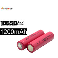 10pcs/lot 18650 Batteries 3.7v 1200MAH Rechargeable Bateria Fit Laser Pen Flashlight 500 Re-charging Battery for Powerbank