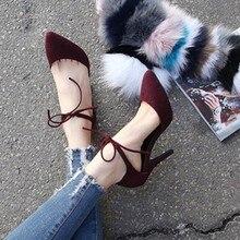 Stiletto Heels Schwelle Knöchelriemen Einfache Ankunft Herde Reine Farbe Bequeme Schuhe Frauen Günstige Ansprechende Stiletto Schuhe Für Frauen