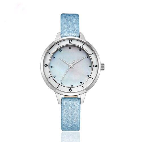 Lujo marca moda mujer relojes de cuarzo diamante mujer relojes señora cuero stra [relojes reloj