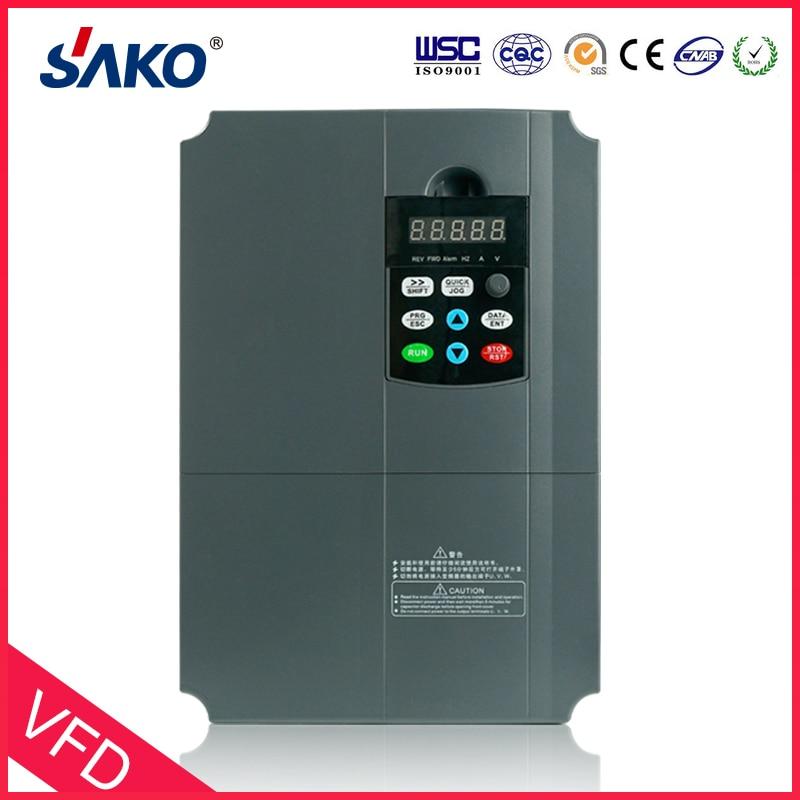 Sako 5.5KW VFD Input 220V 1ph to Output 380V 3ph High Performance Variable Frequency Inverter