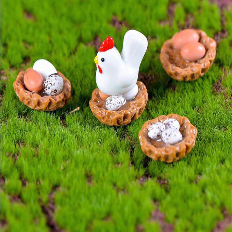 Plantas suculentas muebles decorativos para paisajismo dibujos animados Mini broches suculentos accesorios de decoración del hogar