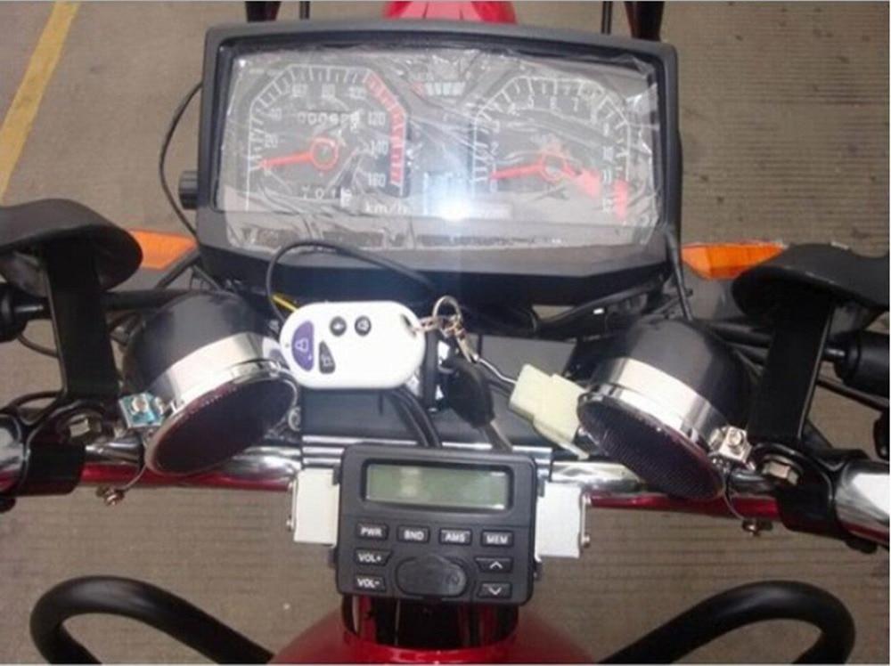 Player Bike Audio-Sound-System Fm-Radio Speakers Waterproof New USB 12V With Remote-Control