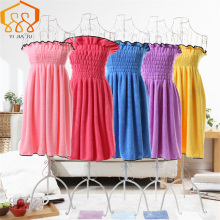 Superfine Fiber Slim Lady Bath Skirt Coral Velvet Lovely Beauty Salon Sauna Clothes Beach Spa Bathrobes Absorbent Towel