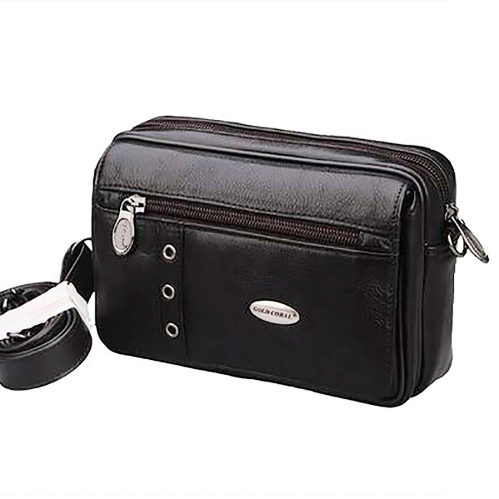 Real Genuine Leather Men Shoulder Bag Casual Cross Body Small Messenger Bags Multifunction Hip Bum Belt Pouch Waist Pack Bag