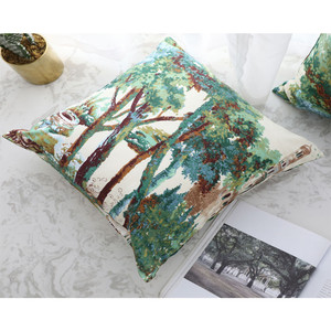 Image 5 - 1PC Home Decoration Cushion Cover Plant Forest Throw Pillowcase Retro Pillowcases Comfortable Pillow Cover Sofa Bedroom