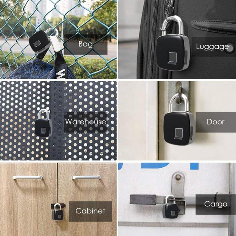 Waterproof Fingerprint Padlock - Smart Electronic Security Lock