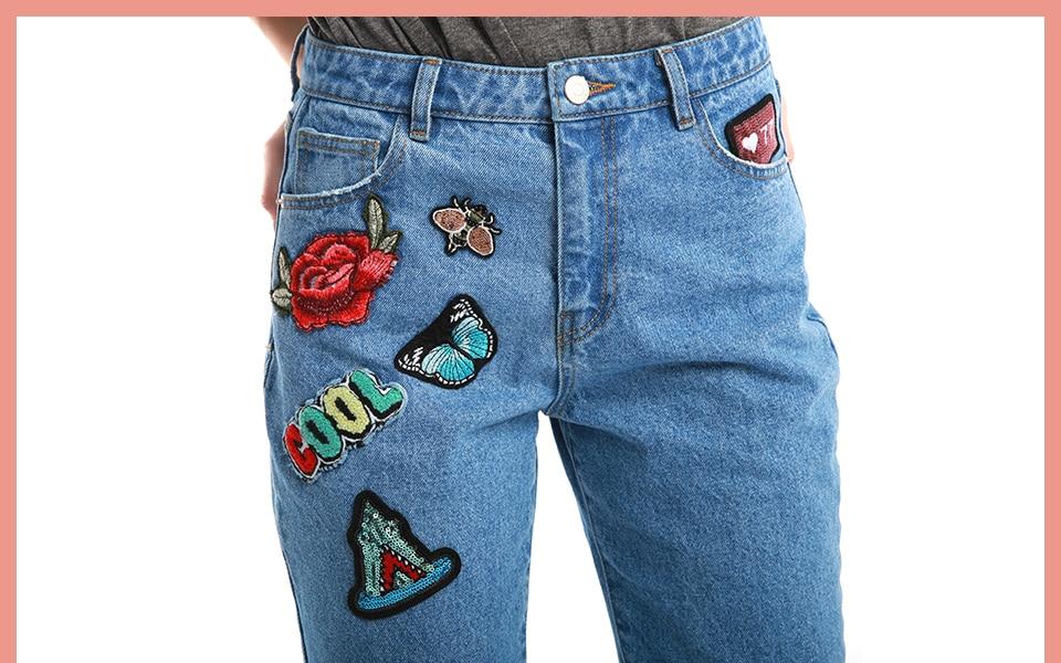 ส่วนลดวันนี้ Lady 100% กางเกงแพทช์เอวสูงสบายๆผ้าฝ้าย 5