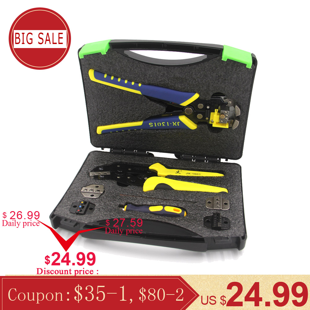 PARON Professional Wire Crimpers Engineering Ratcheting Terminal Crimping Pliers Bootlace Ferrule Crimper Tool Cord End Terminal(China)