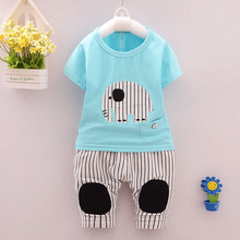 Toddler Boys Clothing 2016 New Fashion Sports Brand Clothes Cotton Animal Printed T-Shirt + Pants Clothing Sets For Boys